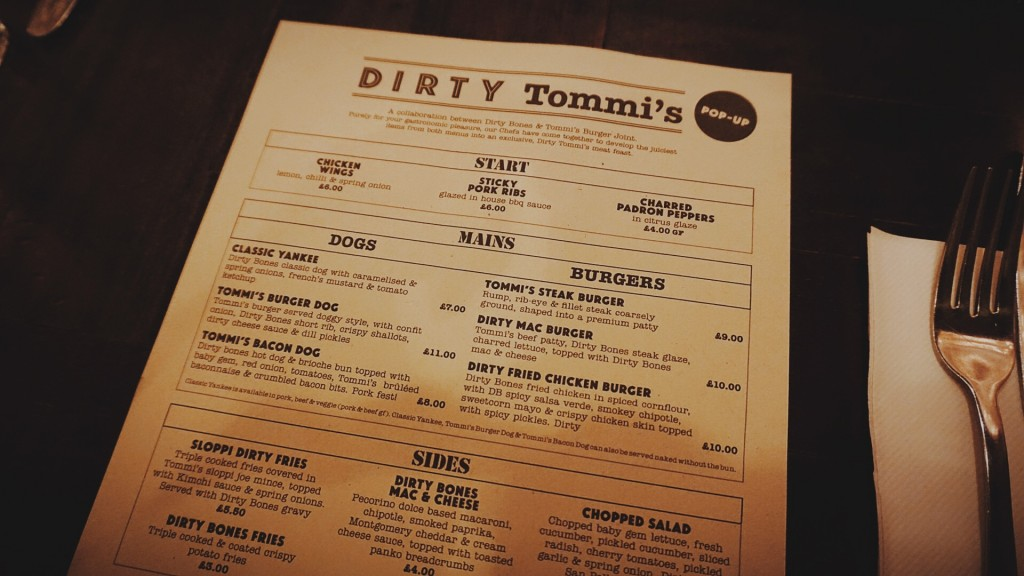 Dirty Tommis At Dirty Bones