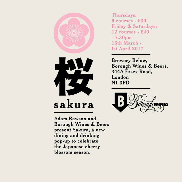 Poster - Sakura Adam Rawson x Borough Wines 2