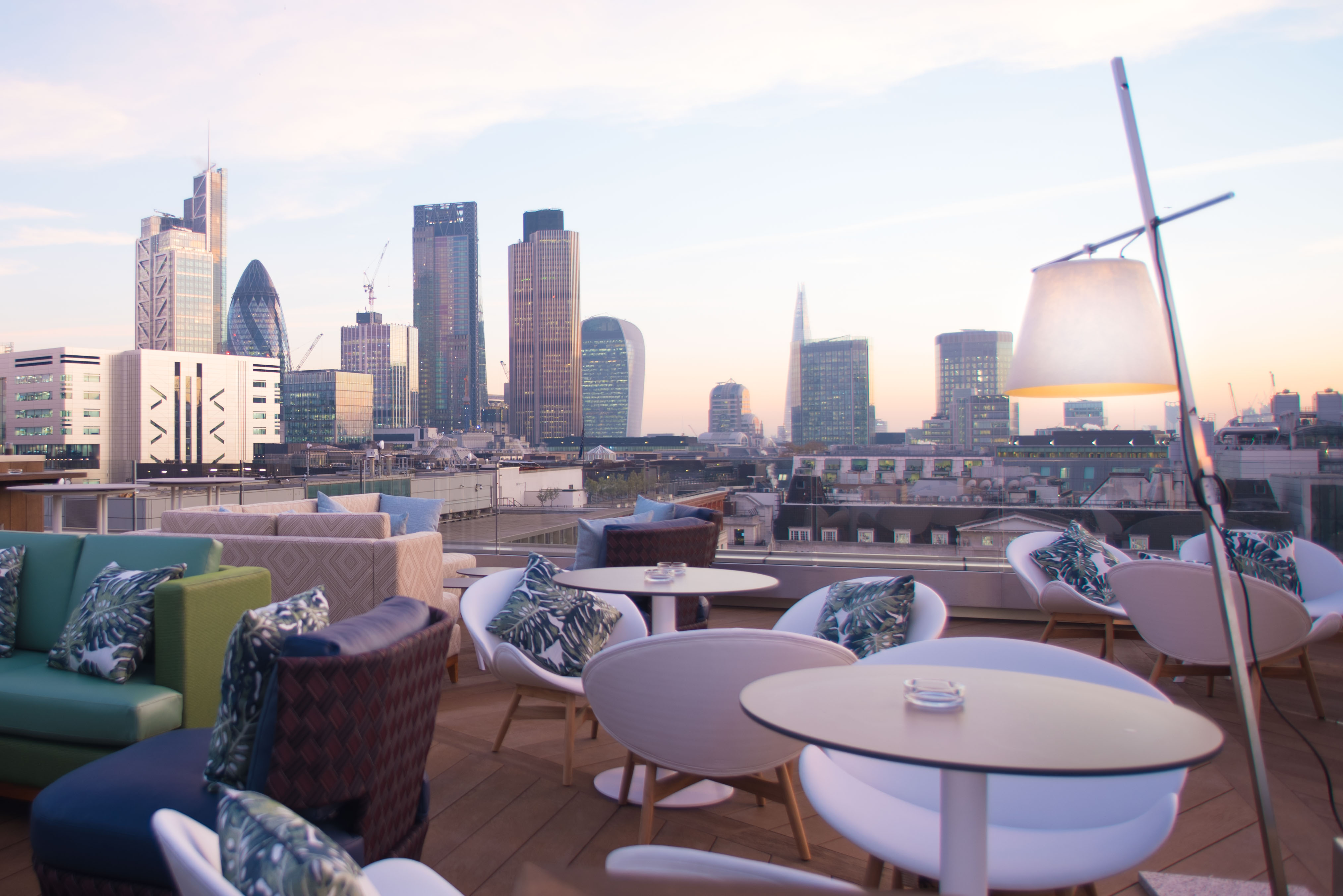 At the launch of aviary london s swankiest new rooftop for Rooftop bar and terrace